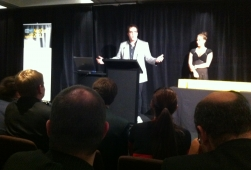 Steve Wrigley - host of the NetGuide Web Awards Ceremony