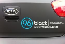 96black details on our company car